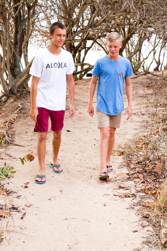 Teenagers on path