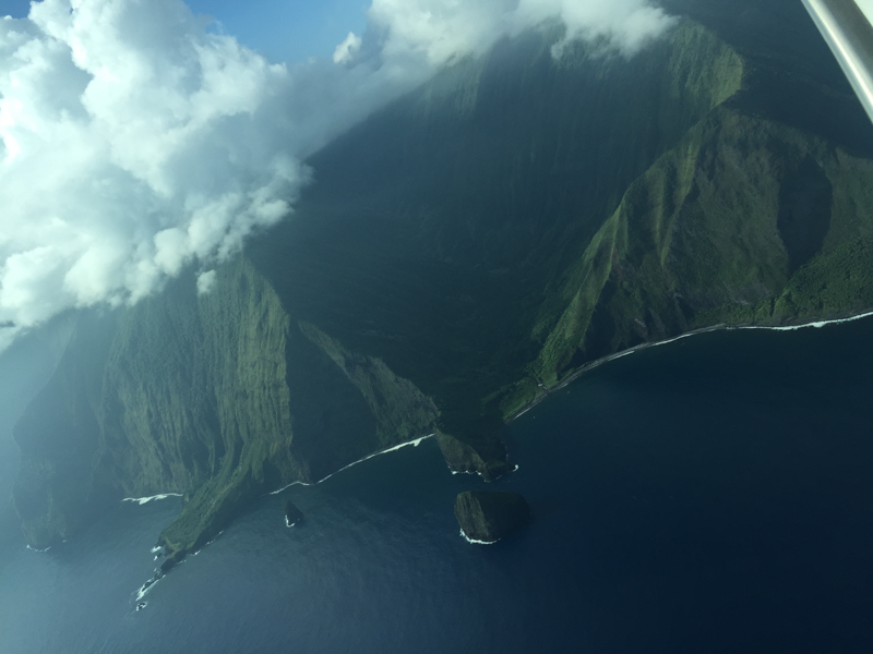 Molokai, North Shore from the air