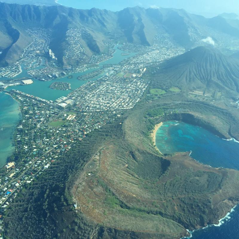Honolulu from Mokulele Air