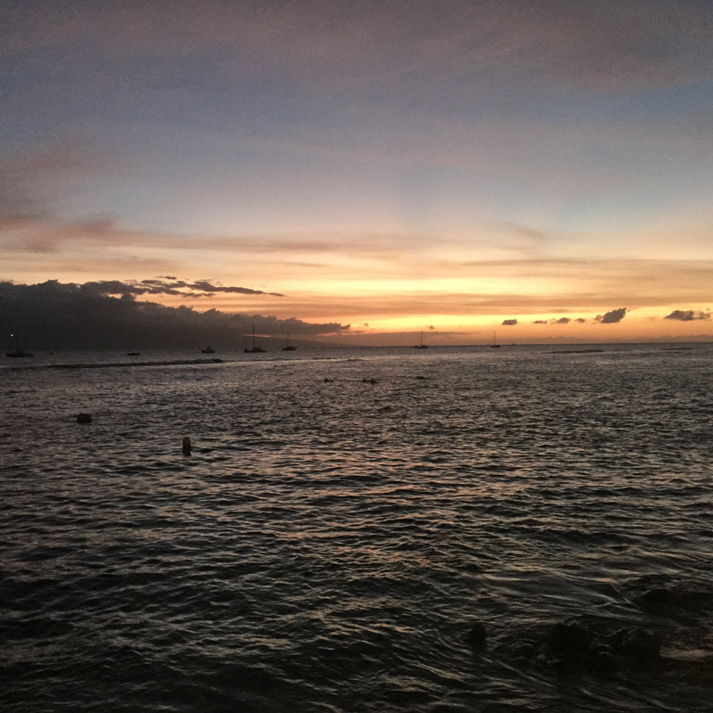 Lahaina Harbor at Sunset