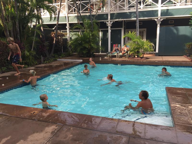 Pool Play Pioneer Inn Maui