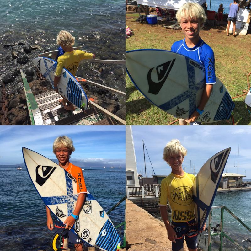 Luke's many jerseys, Surf contest