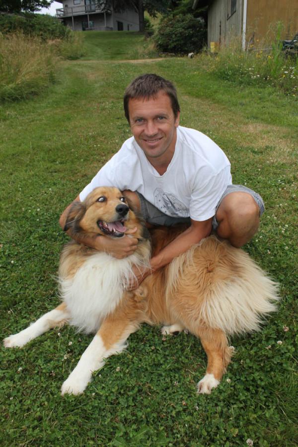 Dave and Oscar dog