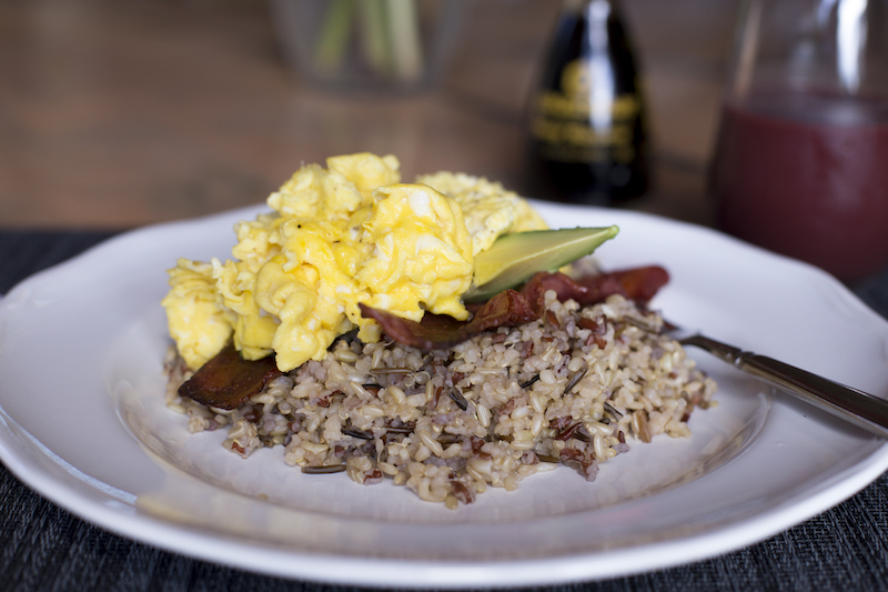 Healthy loco-modo scrambled egg