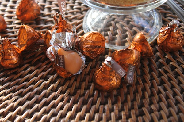 Pumpkin hersheys kisses YUM