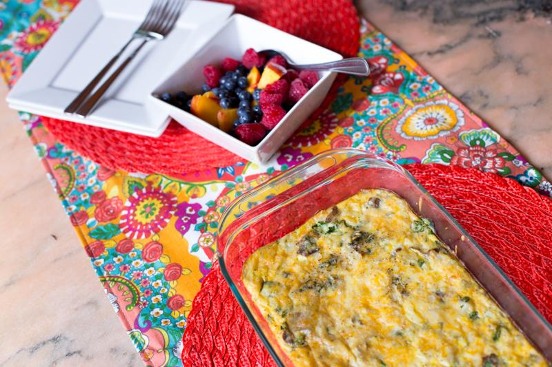 egg and potato bake breakfast