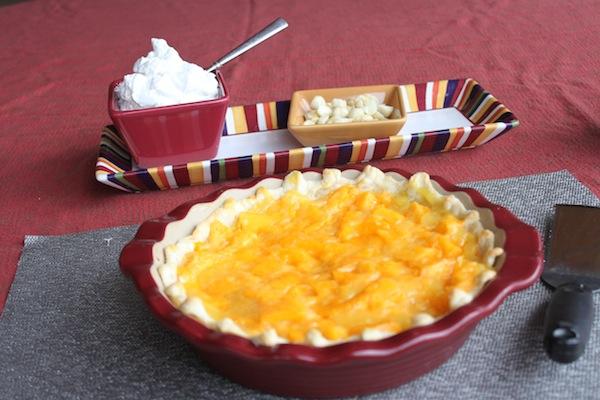 Papaya pie w/ toppings