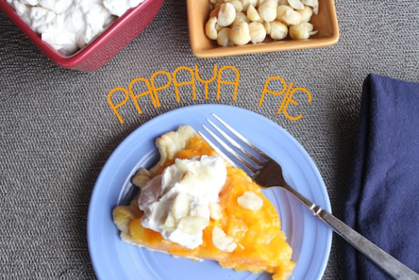 Papaya Pie at thegrommom.com