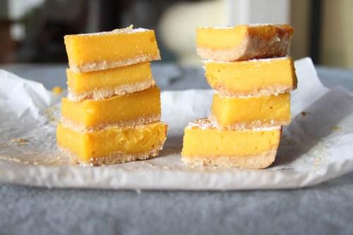 Papaya Bars {Gluten Free & Honey Sweetened.}