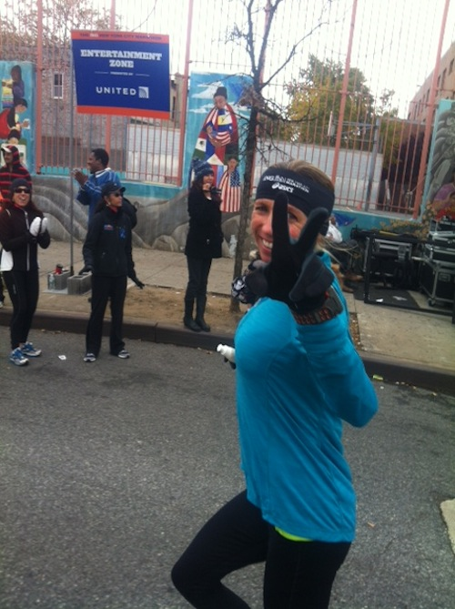 Gretchen in the NYC marathon