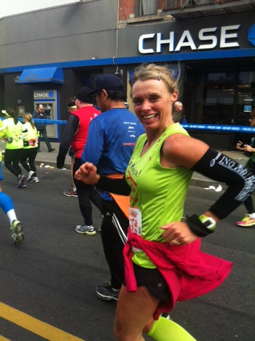 Monica in the NYC Marathon