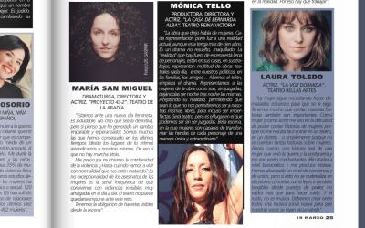Mujeres de la escena. Revista Teatros