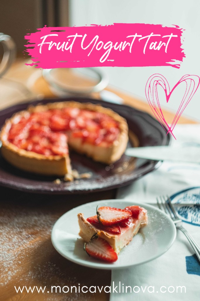 no-bake fruit yogurt tart dessert