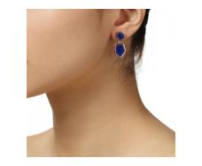 Rose Gold Vermeil Atlantis Cocktail Earrings - Lapis - Monica Vinader