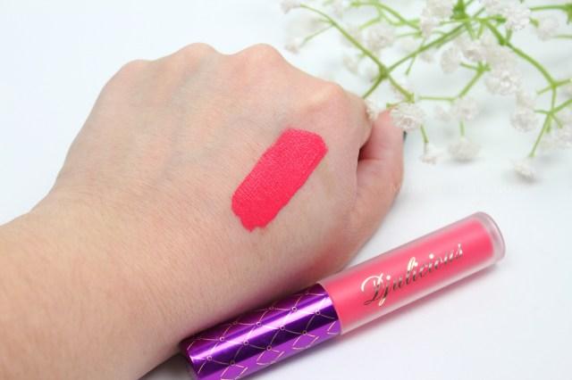 Swatches-djulicious-lipstick-dulcematte-monica-vizuete-floralicious