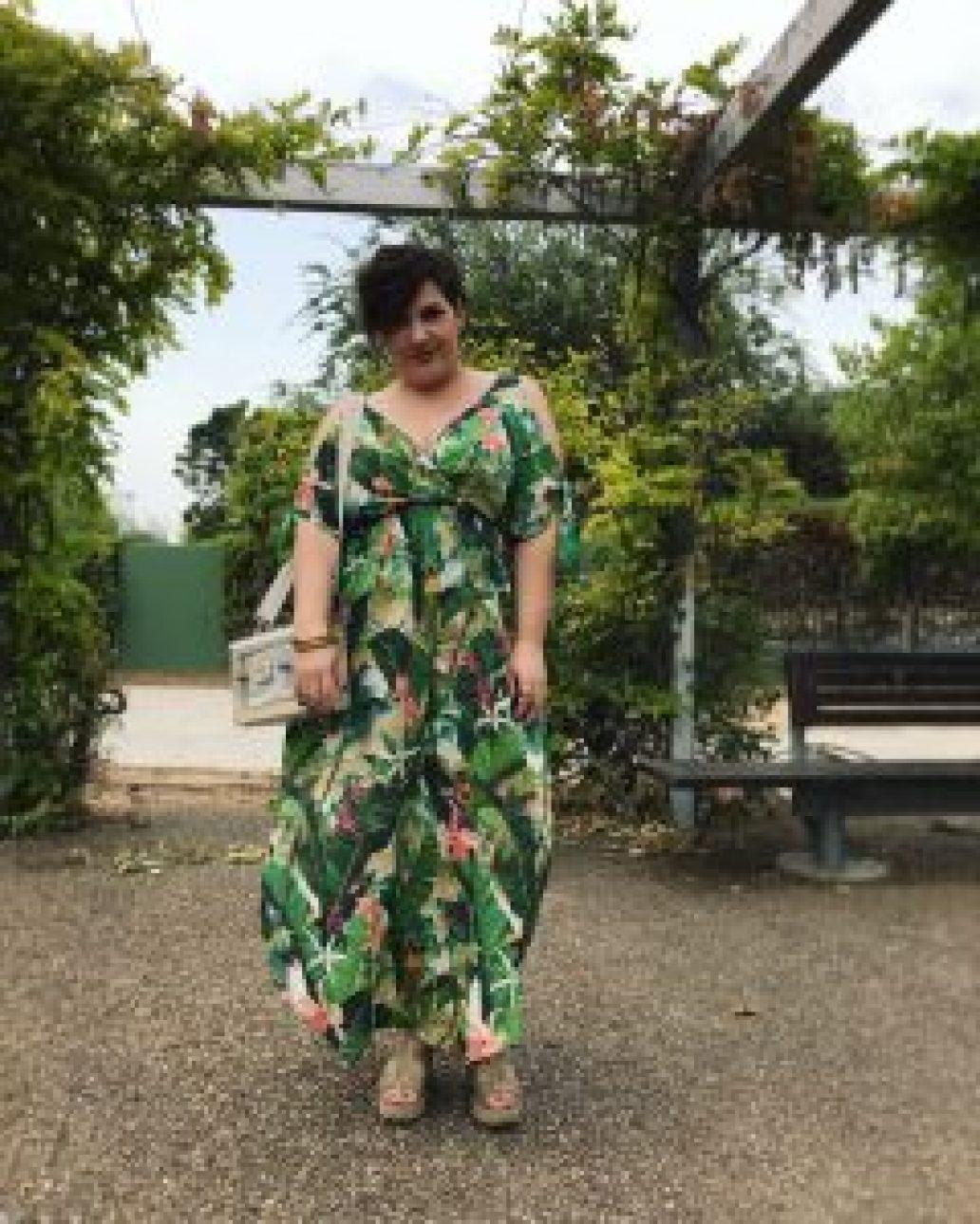 monica-vizuete-oysho-vestido-verde