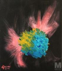 "Air 3 of the Air Series, Acrylic on 12x14"" canvas"