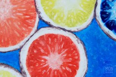 """Citrus Circus, Oil on 9x12"""" canvas"""