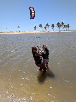 Emily fly's with Estafania Rosa