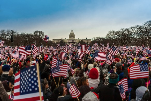 Flags Wave at the 2013 Inauguration