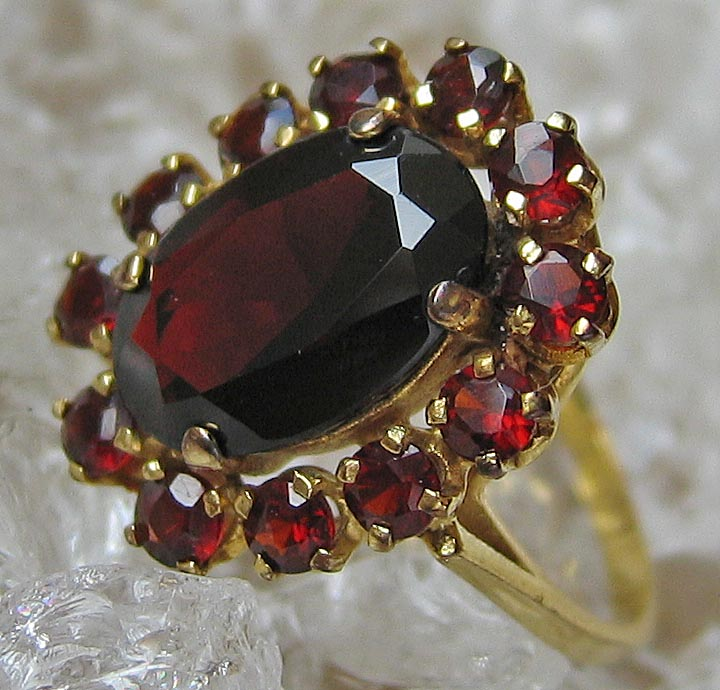 Antikringe Goldringe 8kt 333 Gold Ring Antik Ring Granat