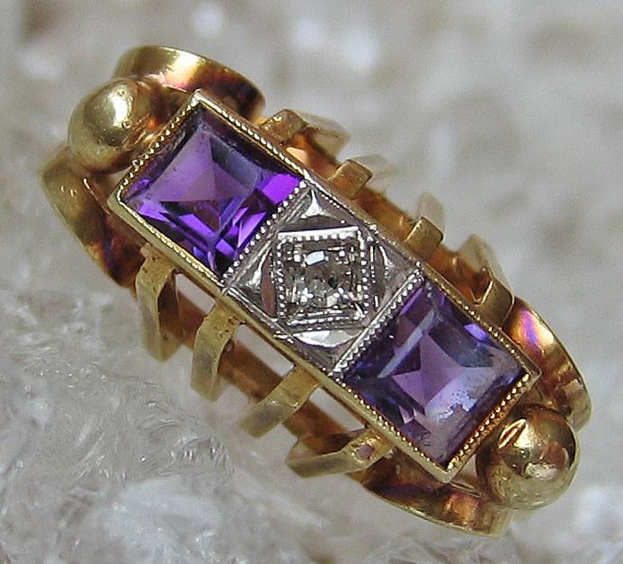 Antikringe Goldringe 14kt 585 Diamant Schmuck Gold Ring