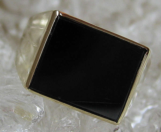 Goldringe 14k 585 Gold Ring mit Onyx Schmuck Onyxring