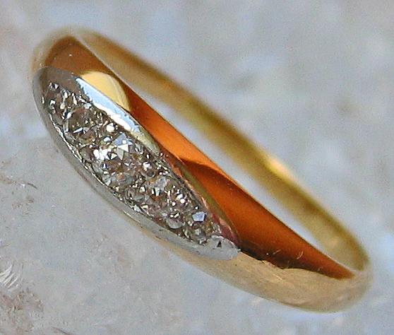 Goldringe 14kt 585 Gold Ring mit Diamant Schmuck Diamant