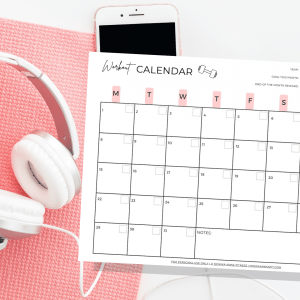 Workout calendar Etsy monikaannafit