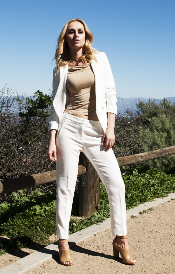White Pants Suit