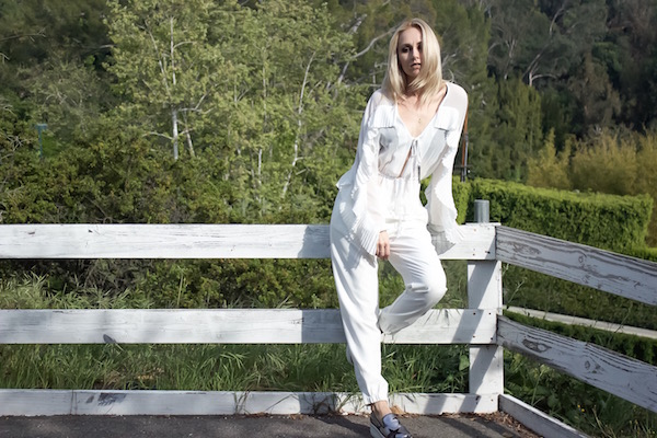 WEARING AN ALL WHITE OUTFIT