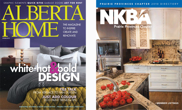 NKBA Prairie Provinces Chapter 2010 Directory Cover in Alberta Home April 2010<br /><br /><br /><br /><br /><br /> Kitchen Design by Monika Siebert - Kitchen Photo by Michael Interisano