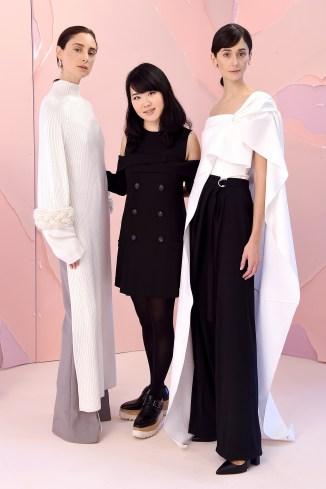 Hanako Maeda with her Adeam Fall/Winter 2016 models. Source: vidapress