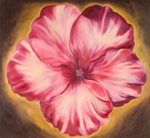 Monika Ruiz Art - Gloria Red Hibiscus