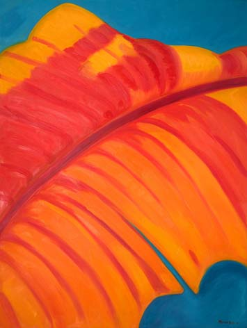Monika Ruiz Art - Orange, Red Vein