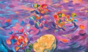 Monika Ruiz Art - Purple Water
