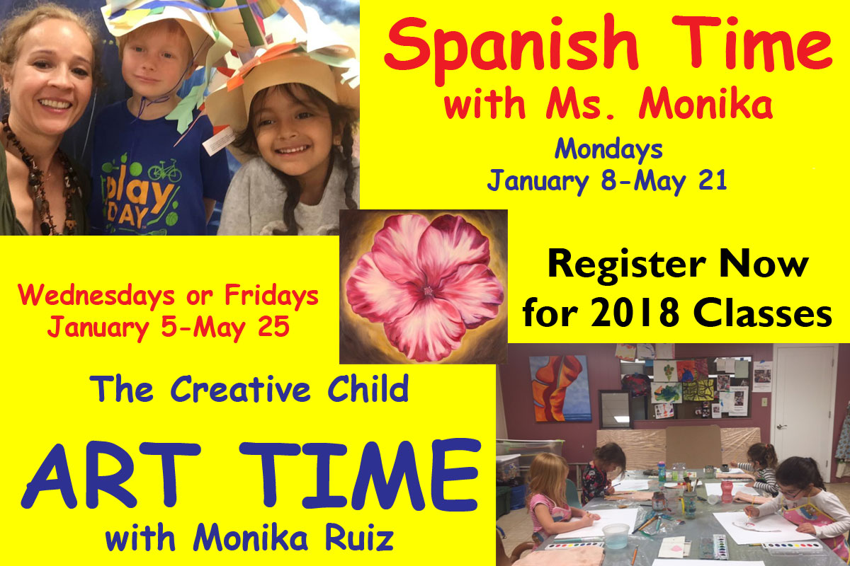 Register Now for Classes with Monika Ruiz 2018