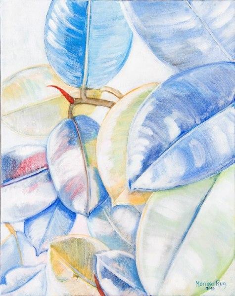 Monika Ruiz Art – White Leaves