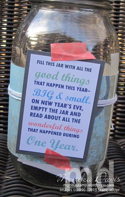 This & That Memory Jar – Stamping Together At Monika's