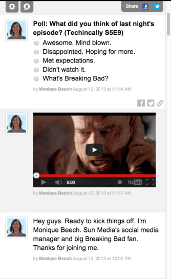 Breaking Bad live chat