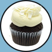 Chocolate cupcake with coconut frosting - brooklyncupcake.com