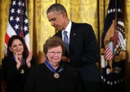 President Obama & Sen. Barbara Mikulski (D-MD) Photo by Alex Wong/Getty Images