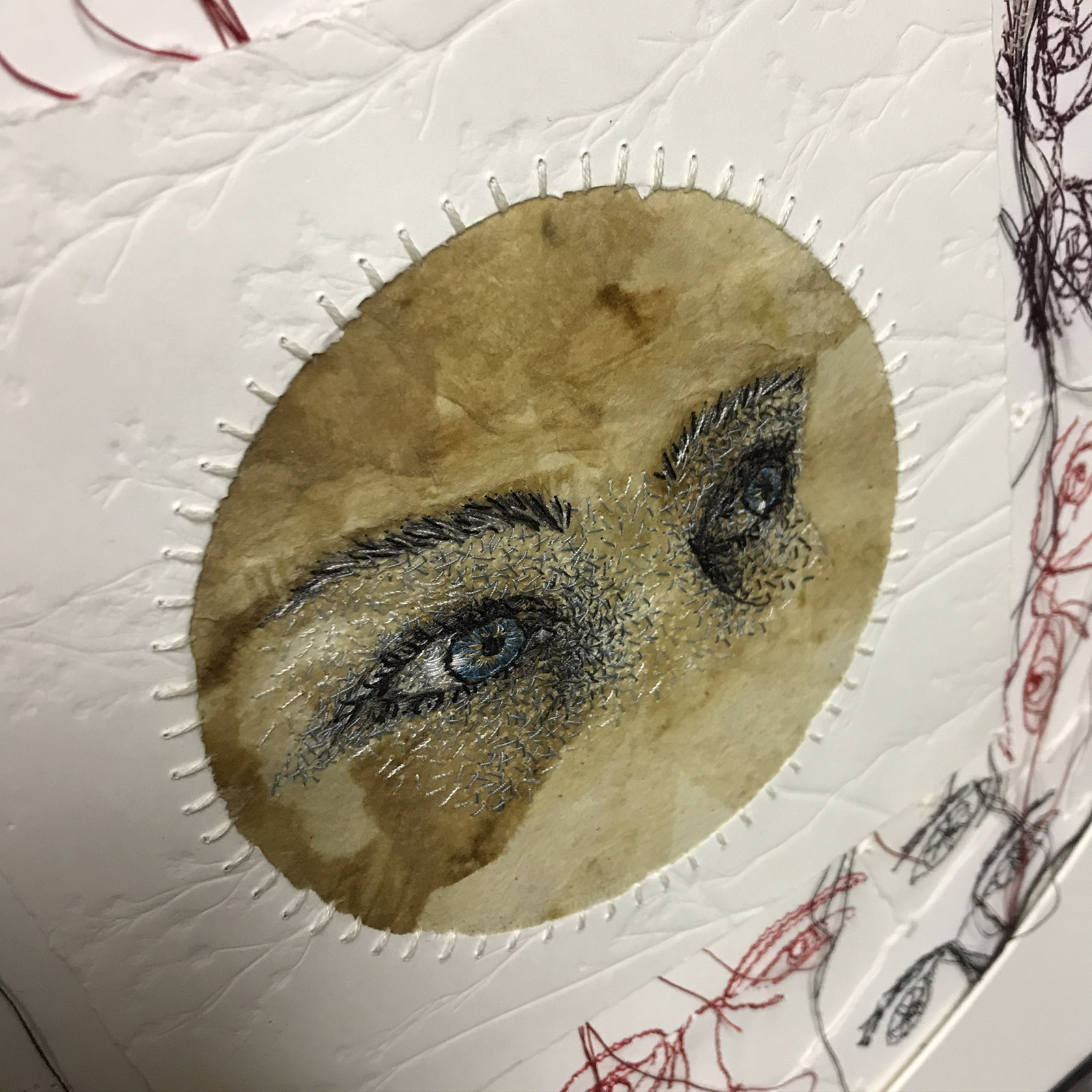 Detail - Eyes in the back of her head, Monique Day-Wilde