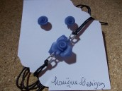 Blue glass roses 4