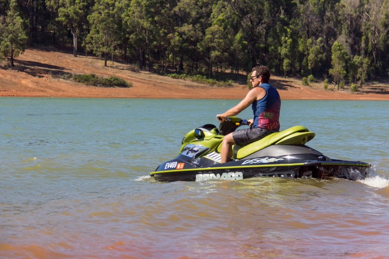 Jet Skiing at Waroona Dam