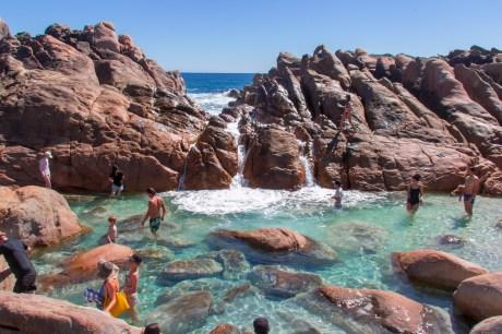 Swimming at Injidup Natural Spa