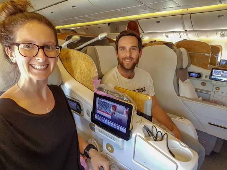 Emirates Business Class Flight 1