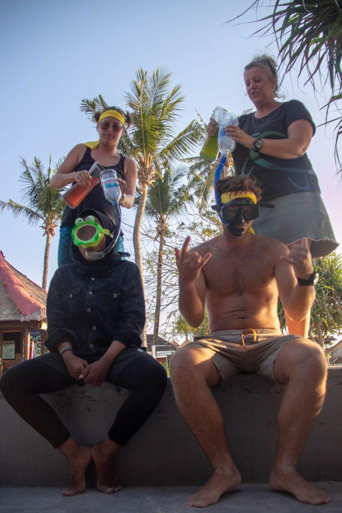 PADI Divemaster Training Blue Corner Dive Nusa Lembongan Bali Snorkel Test