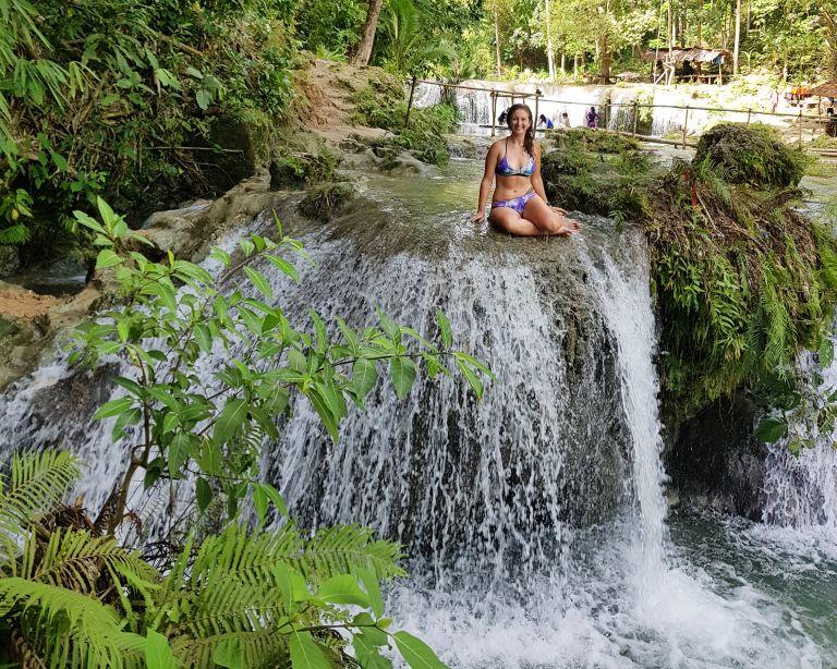 Cambagahay Waterfalls Siquijor Philippines