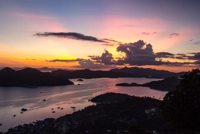 Mount Tapas Sunset Views Coron Palawan Philippines
